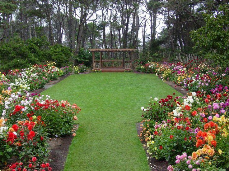 Beautiful Lawn And Flowers Make A Wonderful Backya.