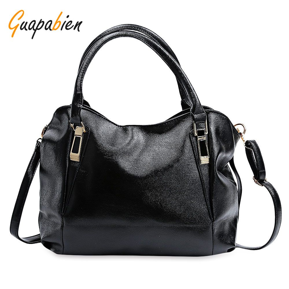 bc81598d78d0 Guapabien Spring Casual Tote Bag Big Shoulder Bags 2017 Fashion Hobos Women  Bag Ladies Brand Soft Leather Handbags Bolso Mujer