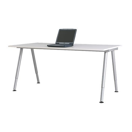Eckschreibtisch ikea galant  GALANT Desk, white, silver-colour Size 160x80 cm $169 The price ...