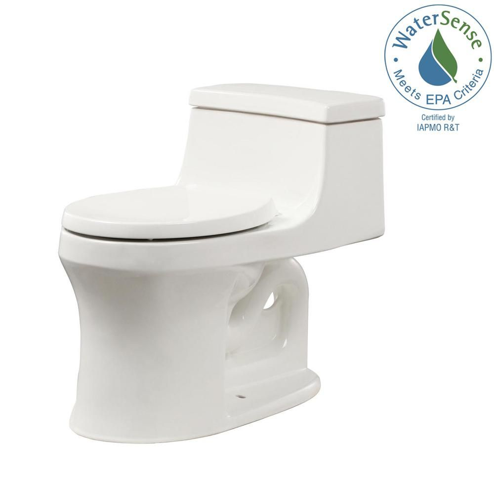 Kohler San Souci 1 Piece 1 28 Gpf Single Flush Round Toilet In
