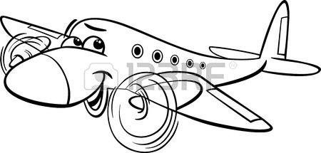 Funny Black And White Cartoon Plane Black And White Cartoon Cartoon Plane Black And White