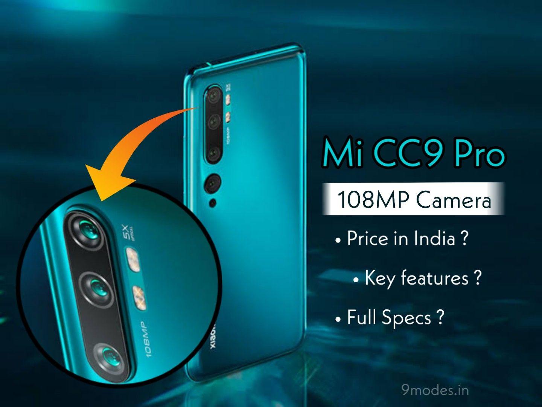 Xiaomi Mi CC9 Pro price in India, Camera, Full Specs in