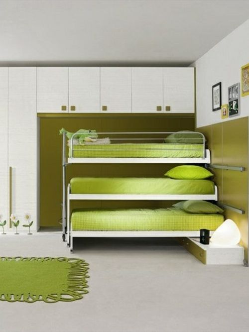 farbgestaltung f rs jugendzimmer 100 deko und einrichtungsideen gr n hochbett. Black Bedroom Furniture Sets. Home Design Ideas