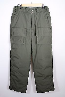 66931385872b4 Cabela's Green Goose Down Insulated Hunting Pants Zippered Leg Size ...