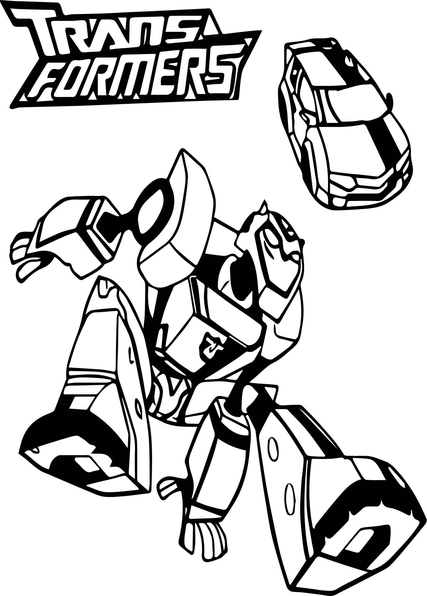 Bumblebee Car Transformers Coloring Page Wecoloringpage Com With