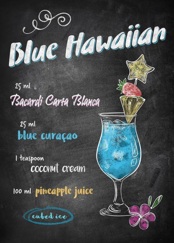 Blue Hawaiian Food & Kitchen Poster Print | metal posters - Displate