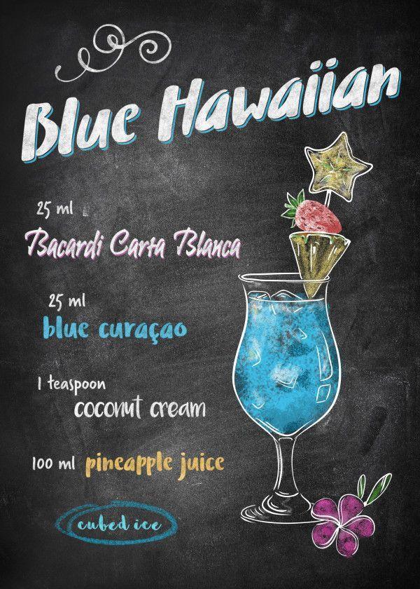 Blue Hawaiian von Joan Derpp | Poster aus Metall   - Sommer Bowle - #Aus #Blue #Bowle #Derpp #Hawaiian #Joan #Metall #Poster #Sommer #von #hawaiianfoodrecipes