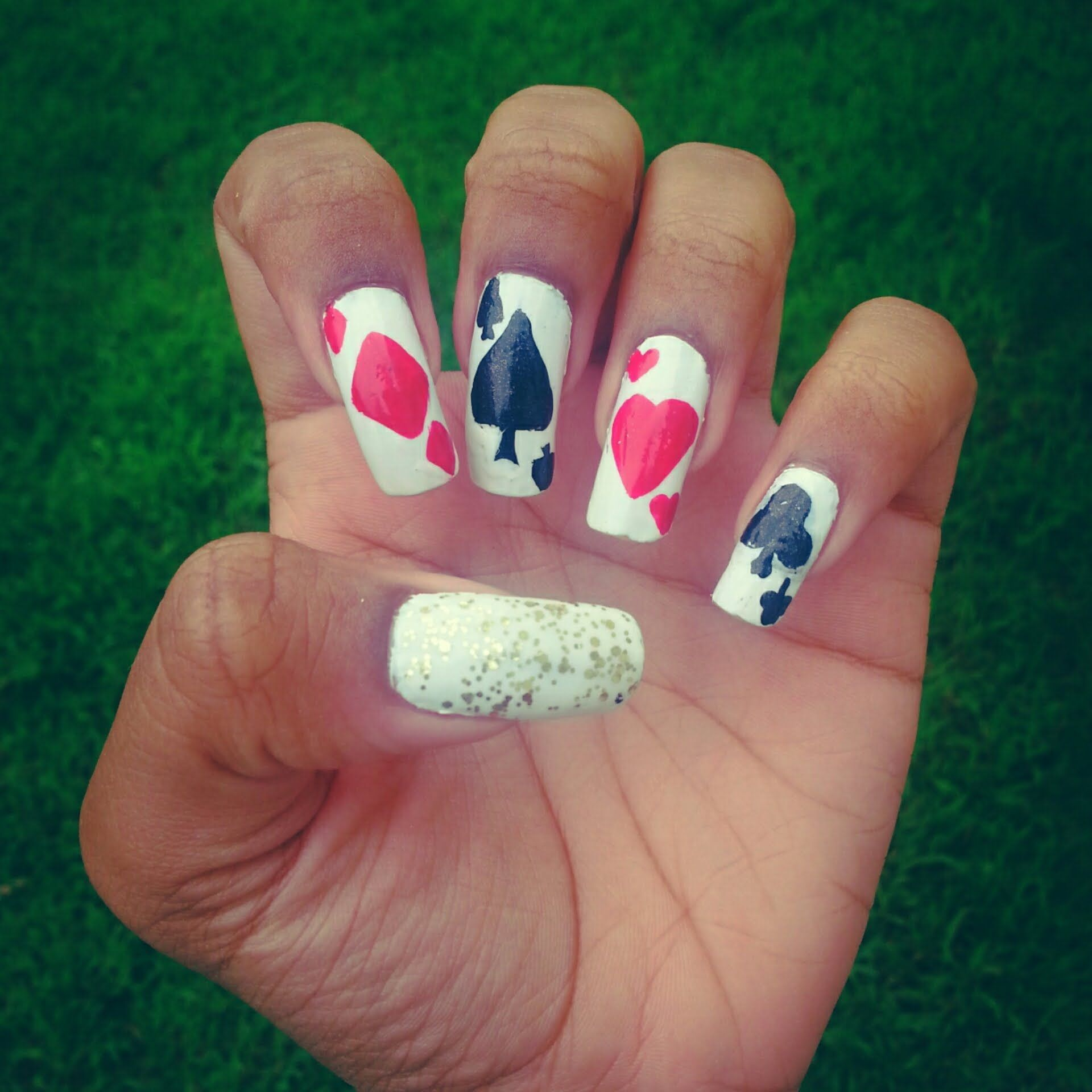 Playing Card Nail Art- iNickel | channel | Pinterest | Playing cards