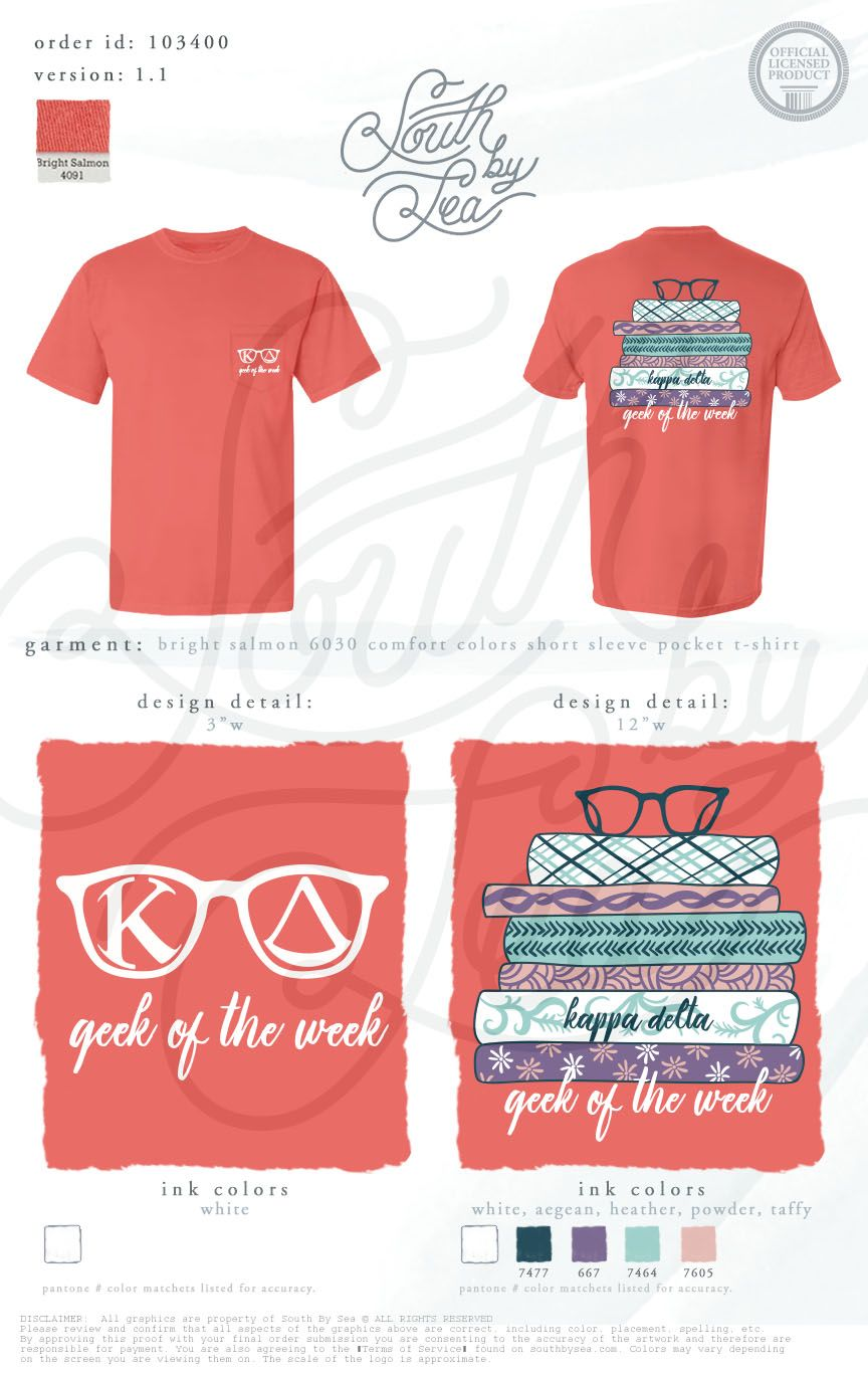 kappa delta kd geek of the week scholarship t shirt ideas - Homecoming T Shirt Design Ideas