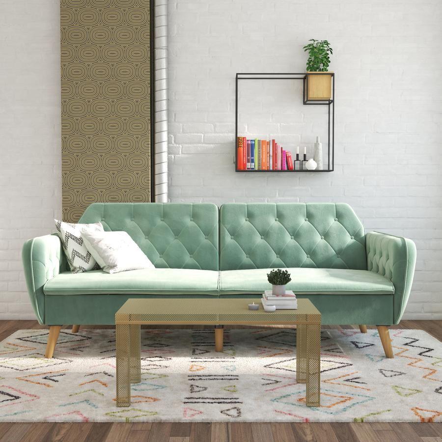 Tallulah Memory Foam Futon In 2020 Futon Sofa Bed Green Furniture