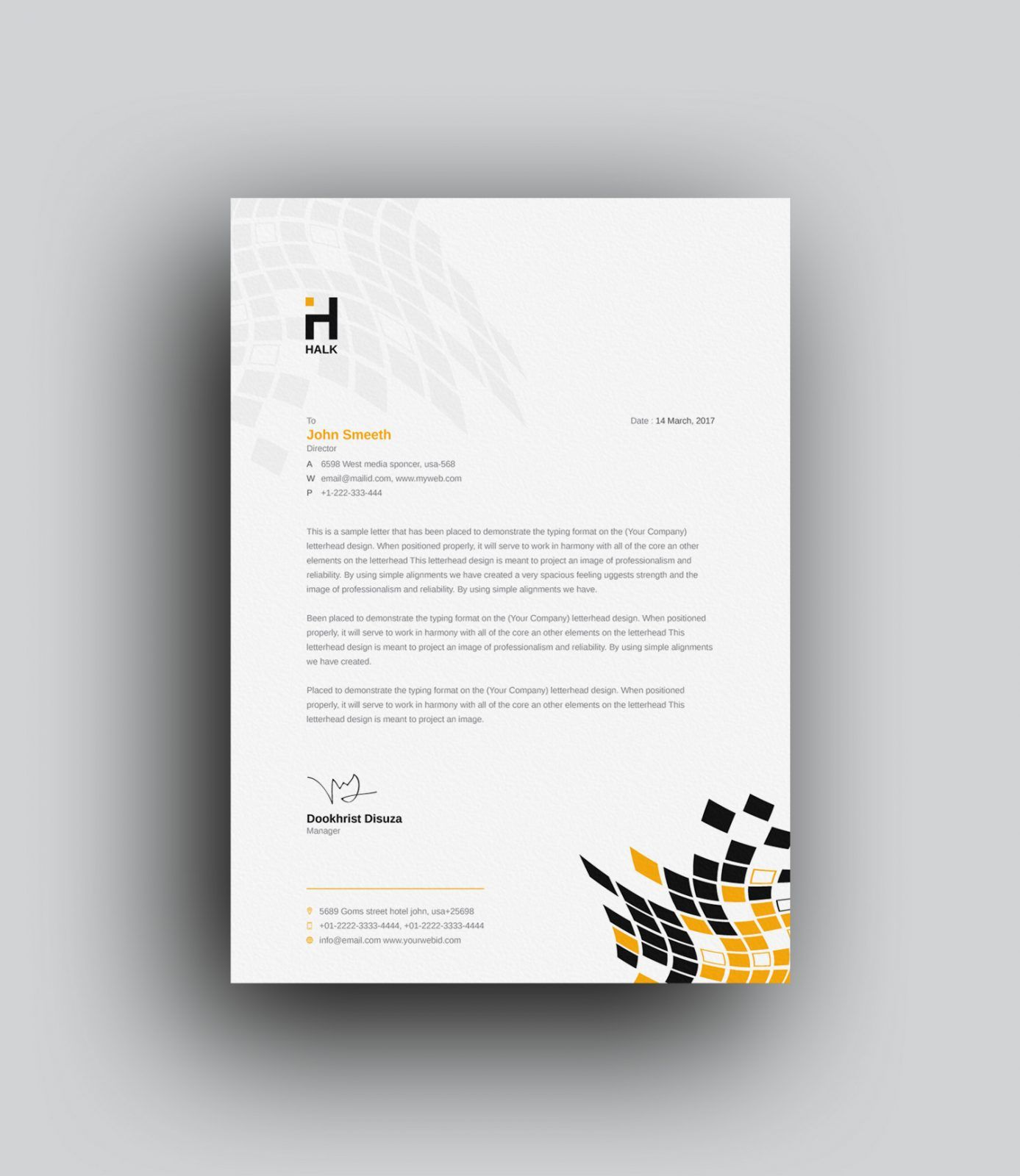 Aeolus Professional Corporate Letterhead Template 001024: Alastor Professional Corporate Letterhead Template 001026
