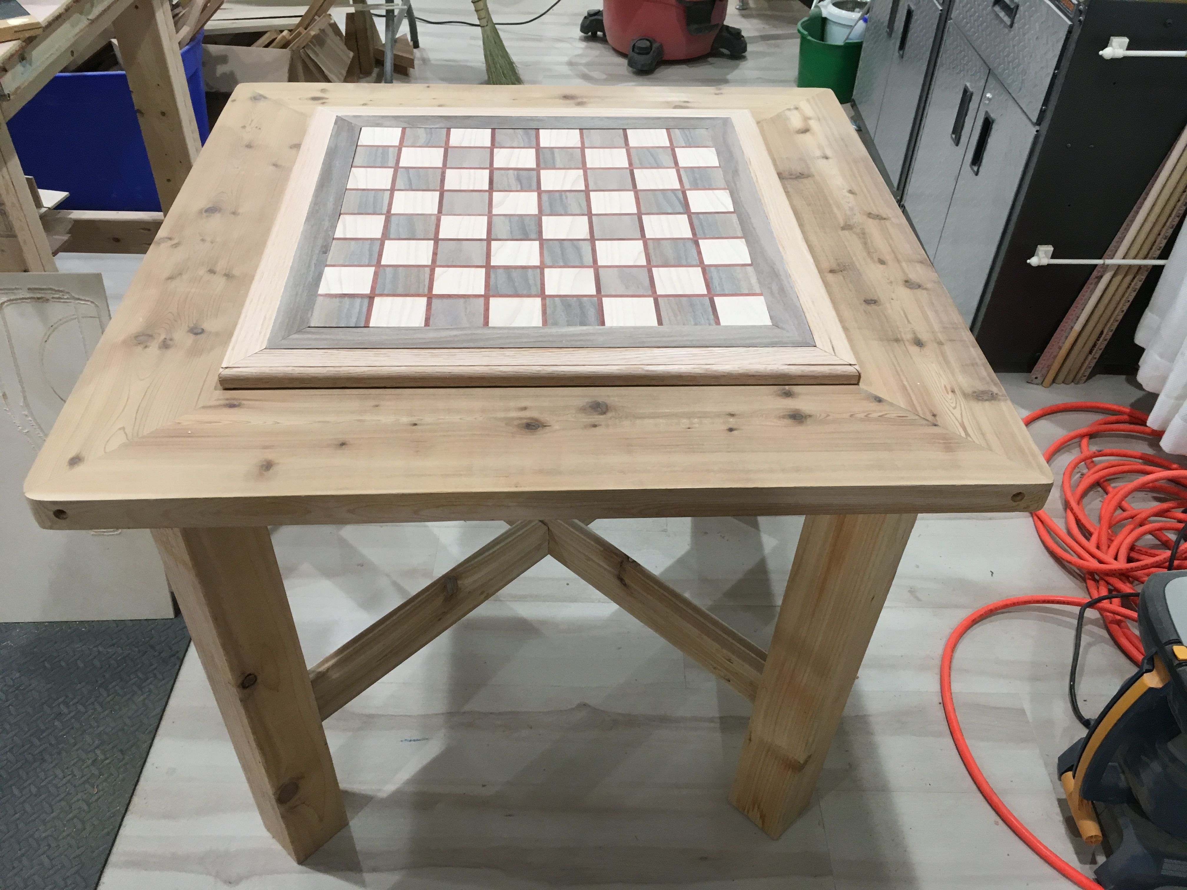 Pin By Allyn Phillips On Rustic Chess Table Chess Table Outdoor Tables Dining Table