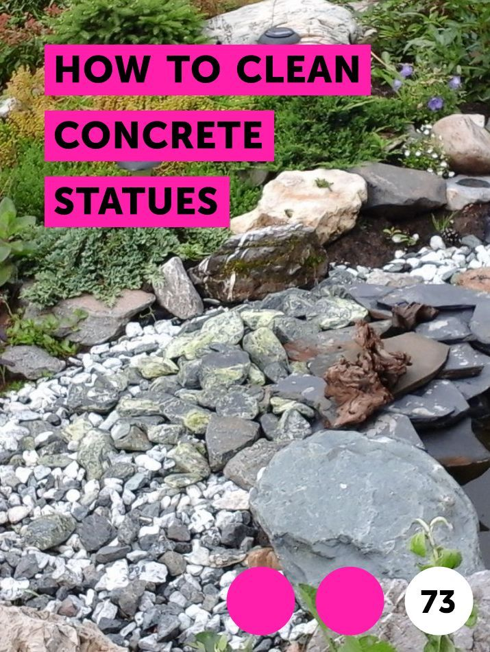 How to Clean Concrete Statues. A concrete statue outdoors weathers and becomes dirtier over time