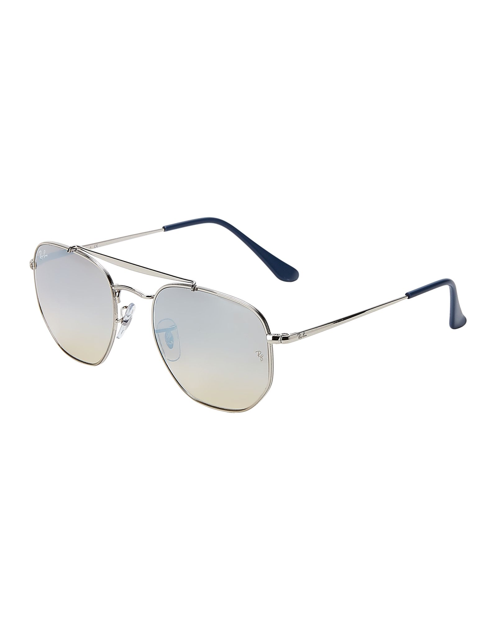 c55d6ae89 Ray-Ban RB 3648 Silver-Tone The Marshal Round Sunglasses | *Apparel ...