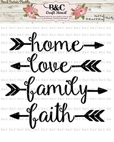 Words Stencil For Craft And Home Decoration Home Family L