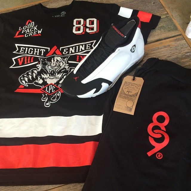 Loud Pack Jersey Tee And Keys Sweatpants Street Wear Black Toe