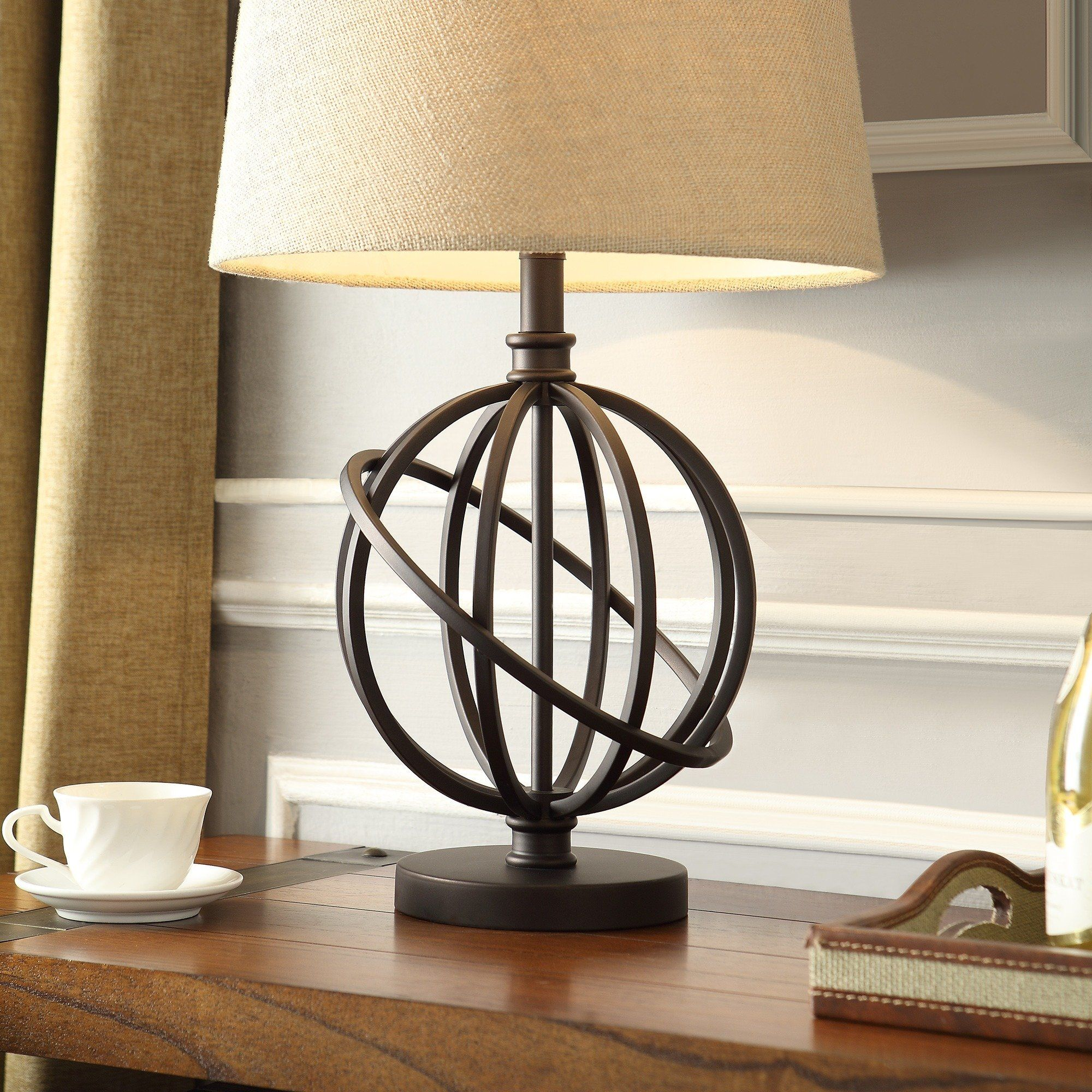 Accent Table Lamp Bronze Metal Orbit Globe. This Beautiful Vintage Modern  Lamp Is Your Best