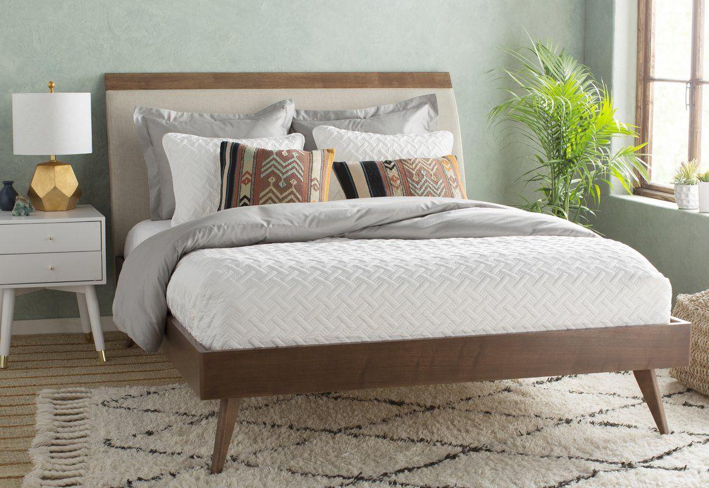 Best Leominster Upholstered Platform Bed Furniture Modern 400 x 300