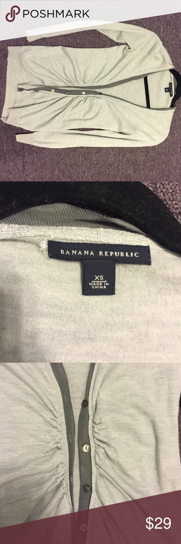 ✨ Banana republic cardigan size XS. reposhing. 🙅NO TRADE but I know some dumbo will ask any way lol. I rather keep if that. NO TRADE, might block you if you do. ✌🏻️happy poshing! Banana Republic Sweaters Cardigans