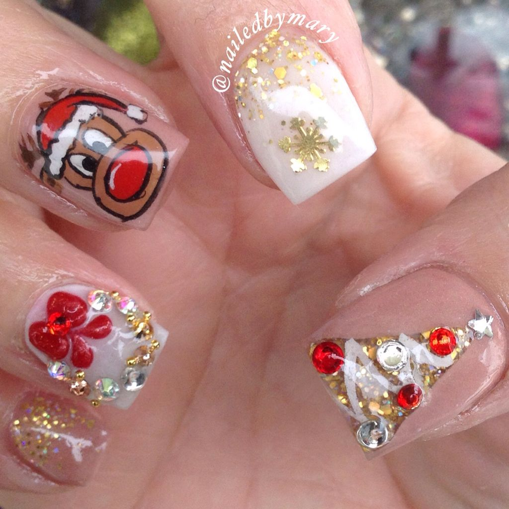 Red gold nude christmas tree wreath snowflakes reindeer winter red gold nude christmas tree wreath snowflakes reindeer winter square nails prinsesfo Image collections