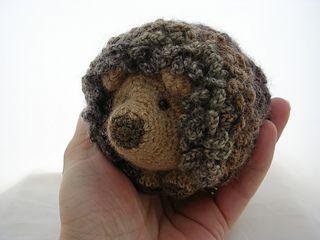 Hedgehog Slippers Knitting Pattern : Crocheted hedgehog - free pattern on Ravelry. Hedgehog ...