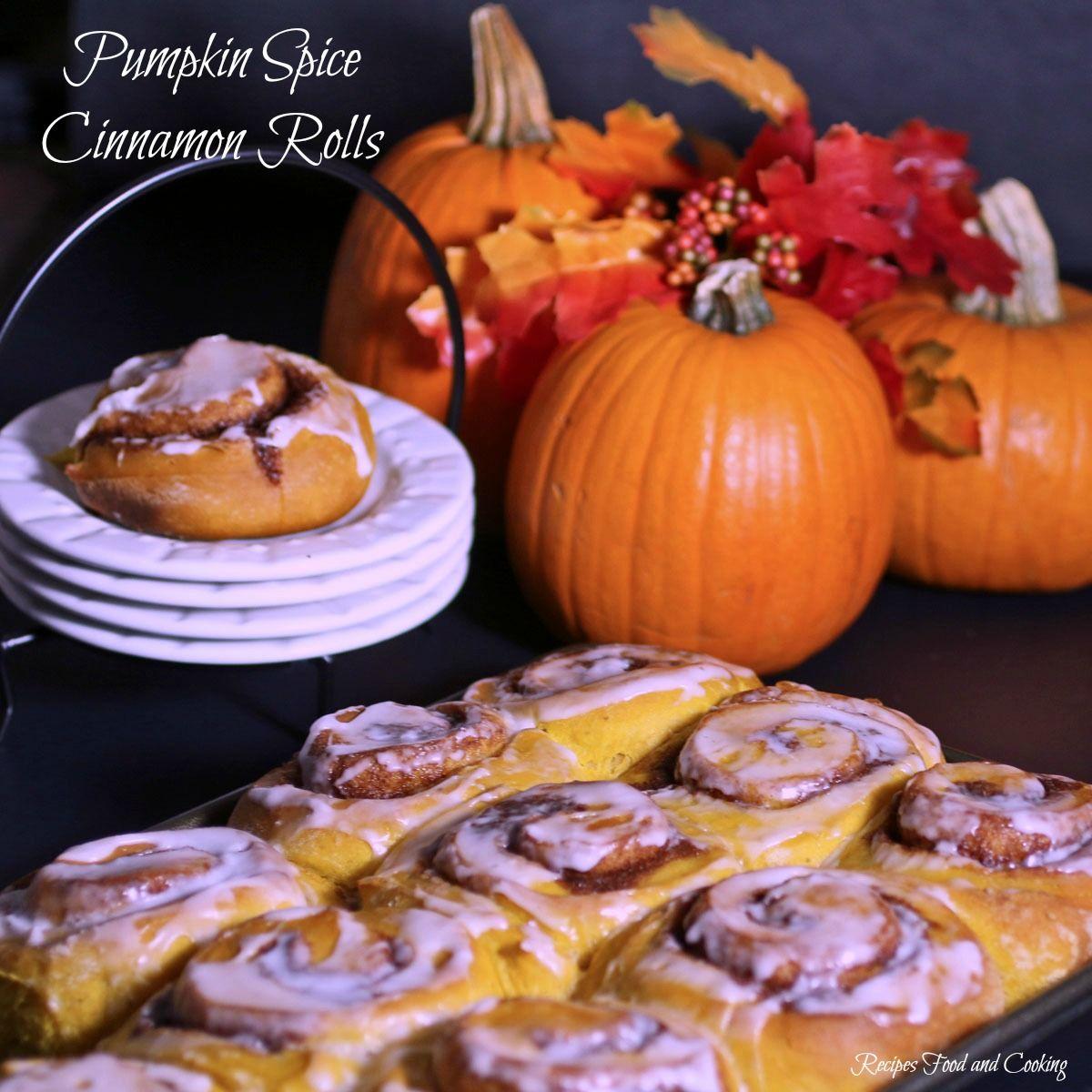 Pumpkin Spice Cinnamon Rolls #cinnamonrollturkey