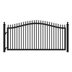 St Augustine 12 Ft W X 5 Ft H Powder Coated Steel Single Driveway Fence Gate Driveway Gate Driveway Fence Wood Gate