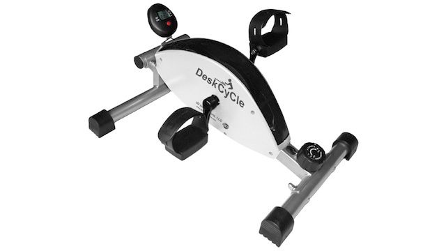 The Deskcycle Is A Space Saving Exercise Bike That Fits Under The Desk Best Exercise Bike Desk Workout Mini Exercise Bike