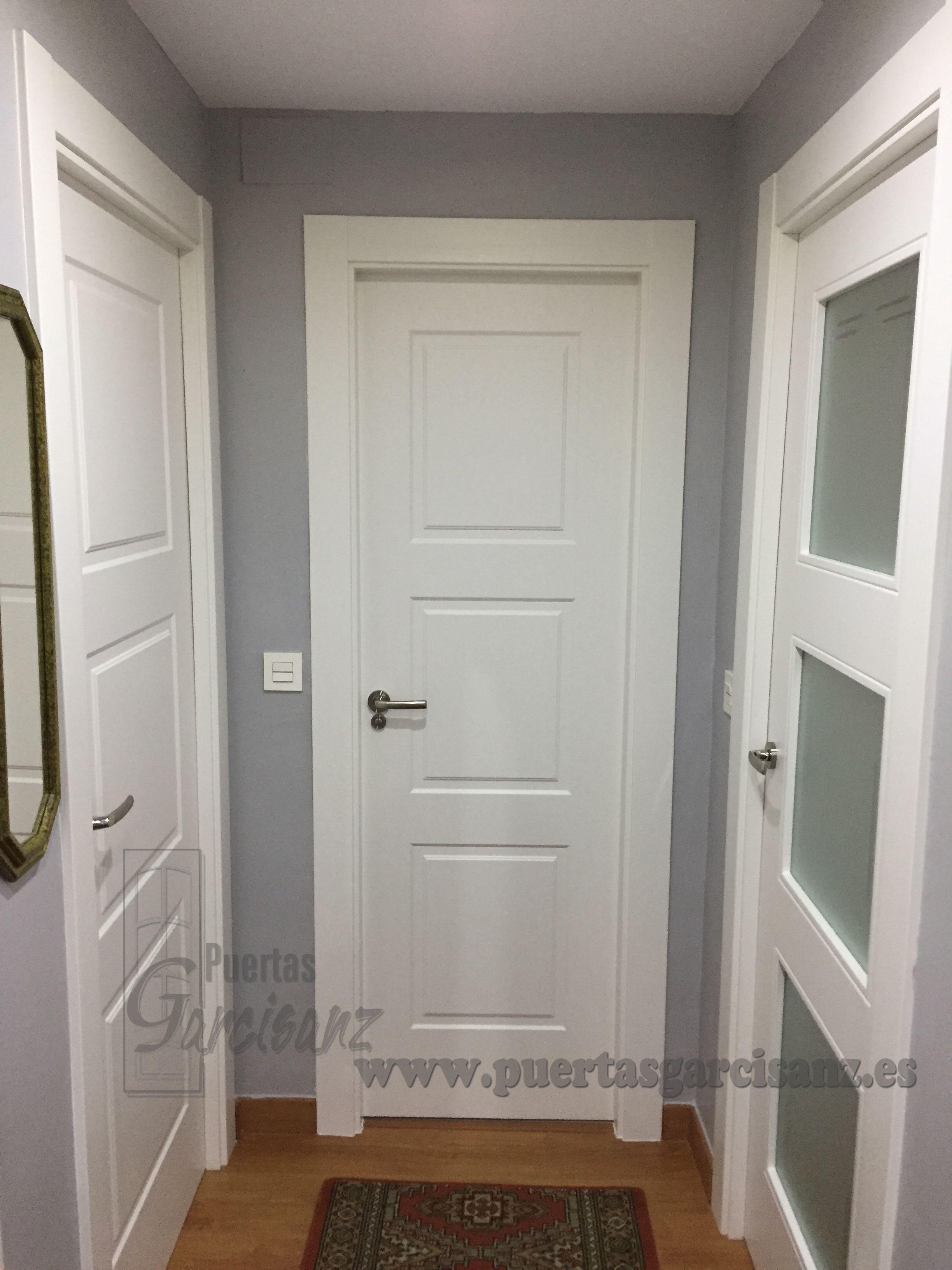 Puerta mod. DEC-108 tres cuadros con inglete recto | Puertas lacadas ...