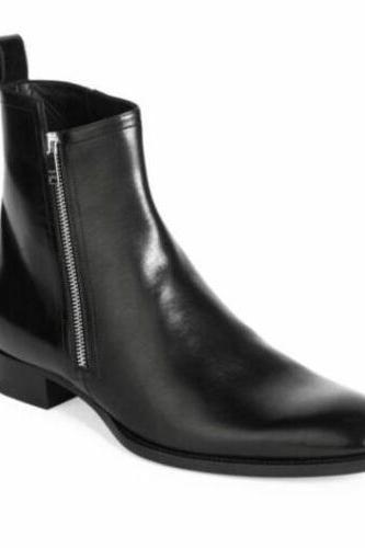 Side zipper boots, Mens dress boots
