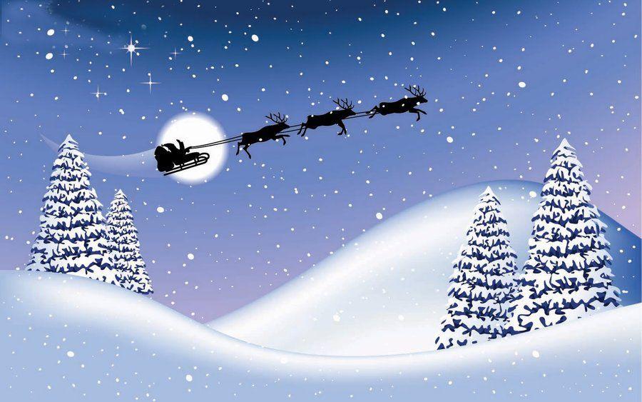 Santa Reindeer Animated Christmas Wallpaper Christmas Wallpaper Free Animated Christmas