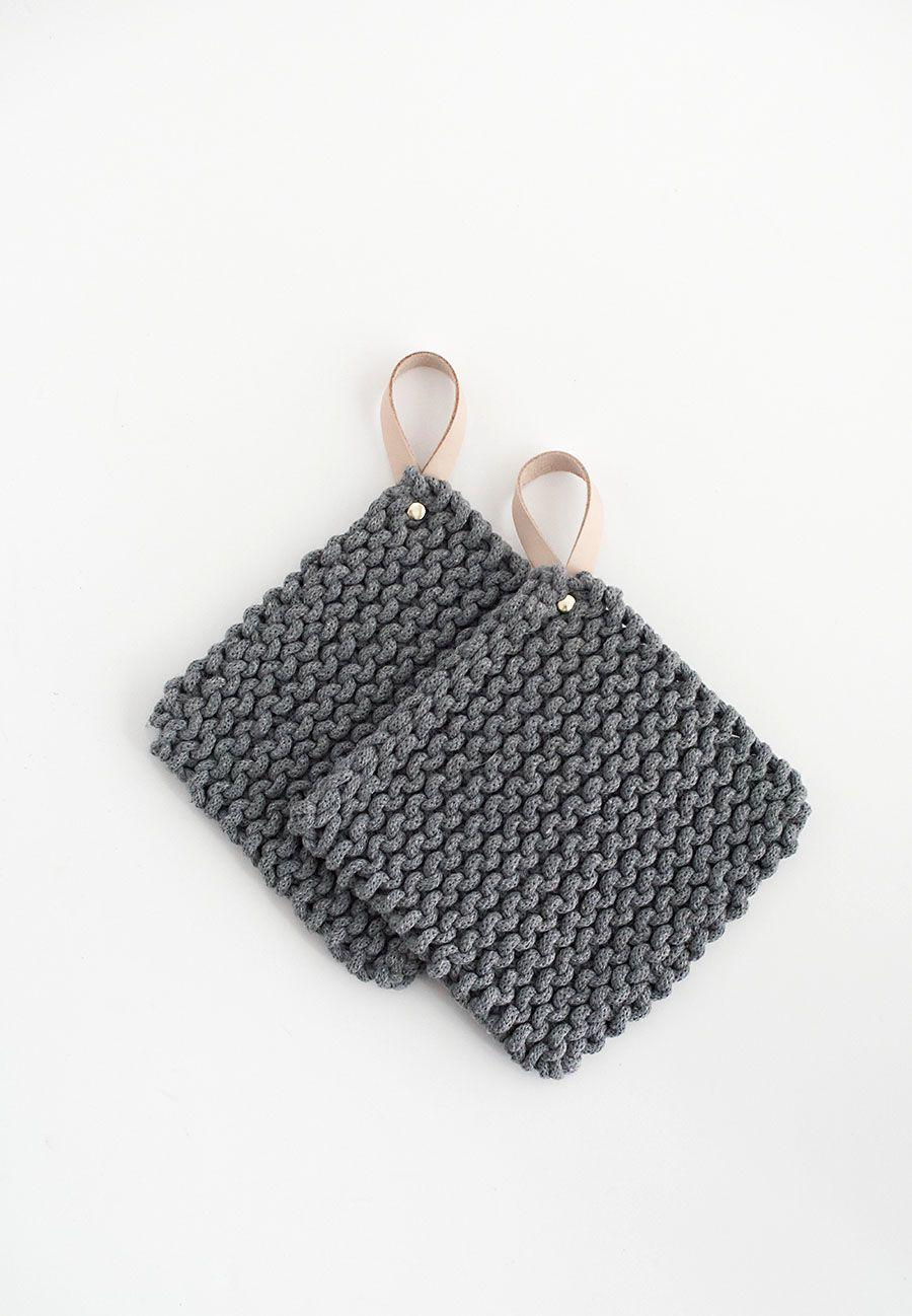 DIY Knit Potholders - | Tejido, Costura y Inspiración