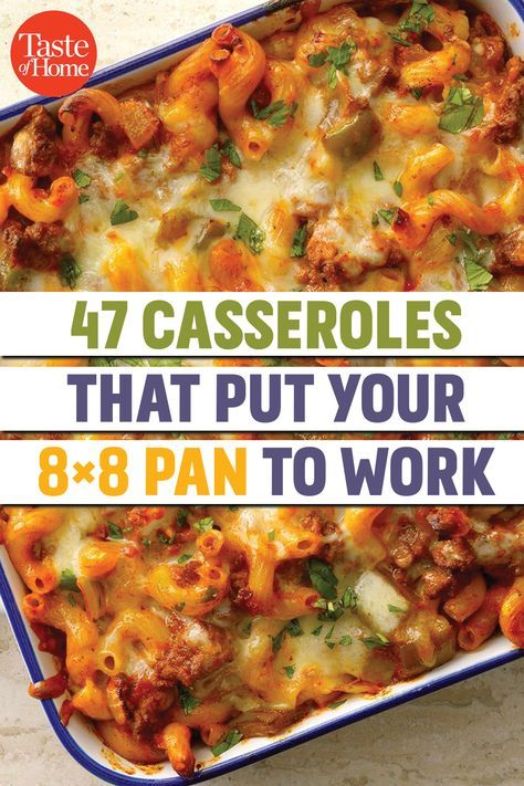 Photo of 47 Casseroles That Put Your 8×8 Pan to Work