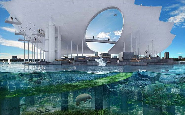 Maltzan S Lens Would Become The Active Center Of St Petersburg As Well As Transforming Its Image Cou Urban Park Landscape Architecture Design Competitions