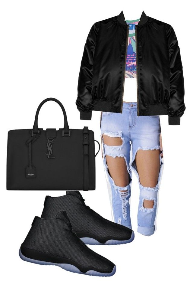 """""""Untitled #177"""" by iamtinaa on Polyvore featuring adidas Originals, Yves Saint Laurent and Givenchy"""