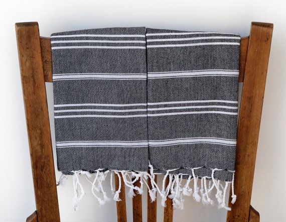 turkish hand towels black peshkir 2 hand woven cotton soft versatile tea face bathroom kitchen head scarf black white 18 00 via etsy