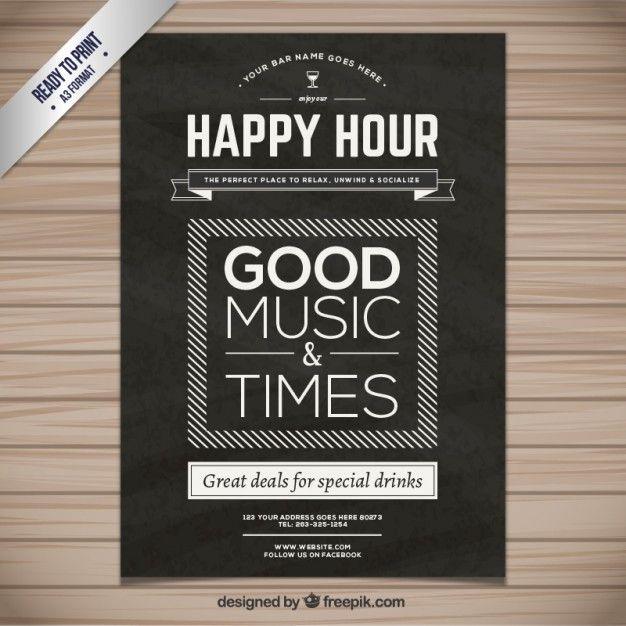 Poster happy hour design inspirationhow tos pinterest happy poster happy hour maxwellsz