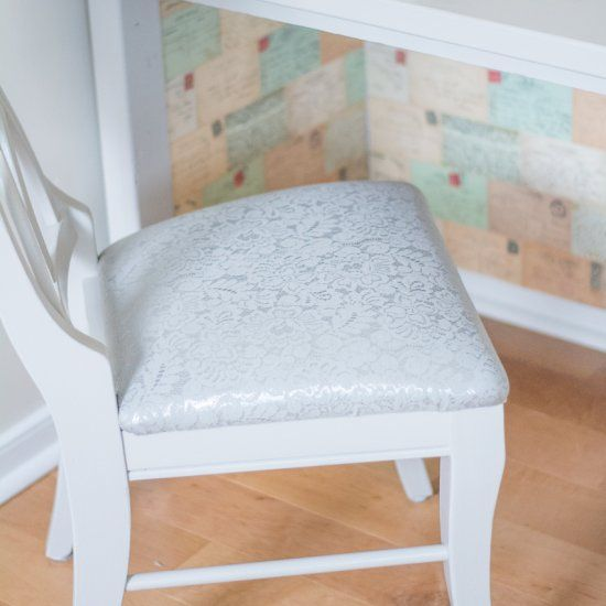 Learn to reupholster a chair cushion in only 3 steps. It sounds hard, but it's pretty easy! Grab some fabric and start stapling.