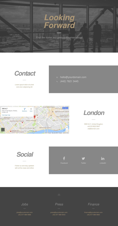 Contact – Modern | WP - Templates / Plantillas | Pinterest ...