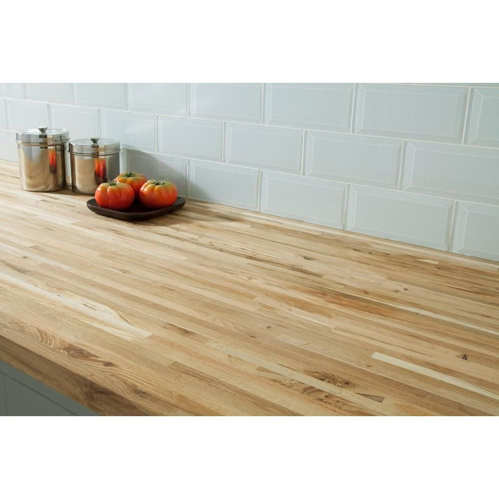 Builder Grade Oak Butcher Block Countertop 8ft Floor Decor Butcher Block Countertops Countertops Butcher Block