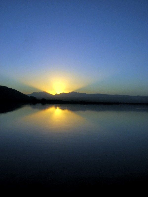 Sunset in Sedgefield, South Africa by Arina Jansen van Vuuren