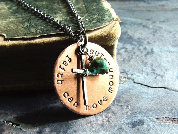 Faith Can Move Mountains Christian Necklace by ATwistOfWhimsy
