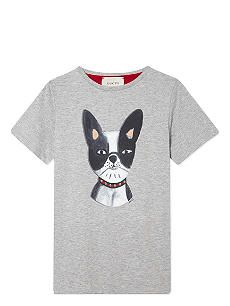 c03f7f090ded GUCCI Bulldog cotton t-shirt 4-12 years | pattern on clothes | Mens ...
