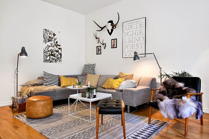 Fabulous danish modern apartment design attractor for Danish living room ideas