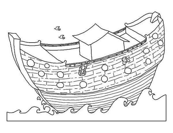 free noah\'s ark coloring pages | Noahs Ark, : A Simple Drawing of ...