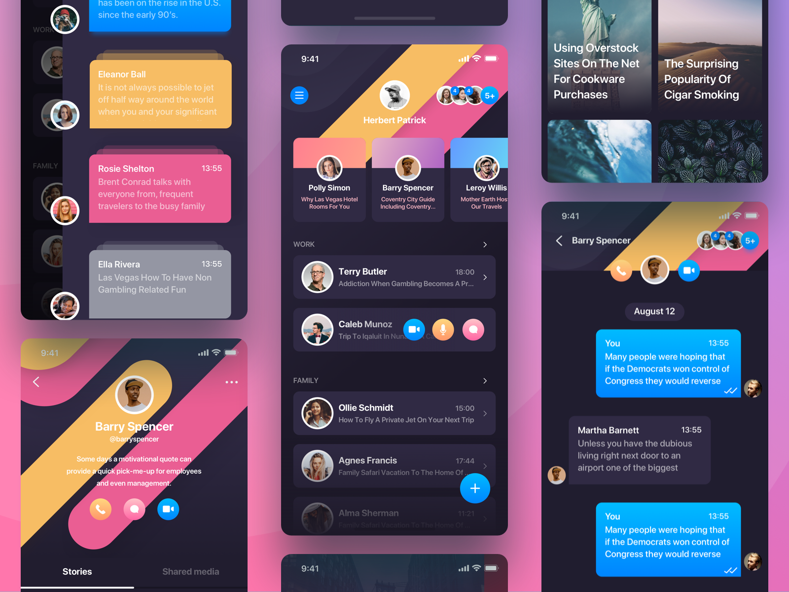 Rainbow Messenger App story private buble chat messenger message