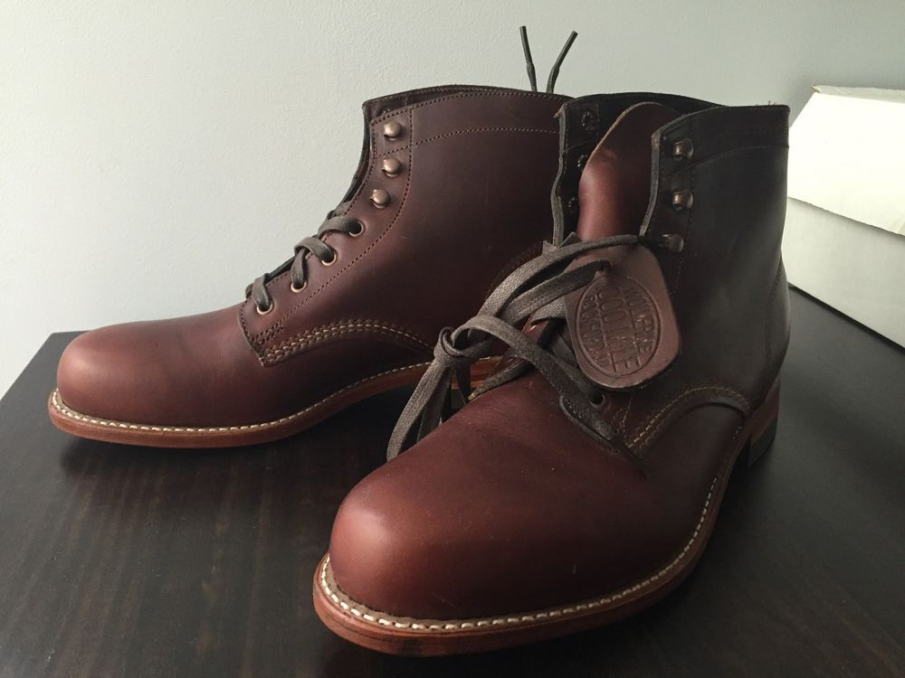 Wolverine '1000 Mile' Plain Toe Boot (Men) Rust - SIZE 8 D - Factory Seconds #Wolverine #WorkSafety