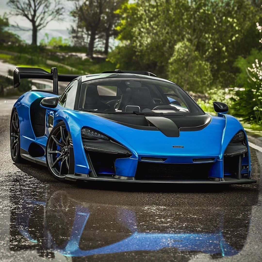 Starting Off Mclaren Monday Right With With This Stunning Blue Senna Mclaren Cars Super Cars Mclaren