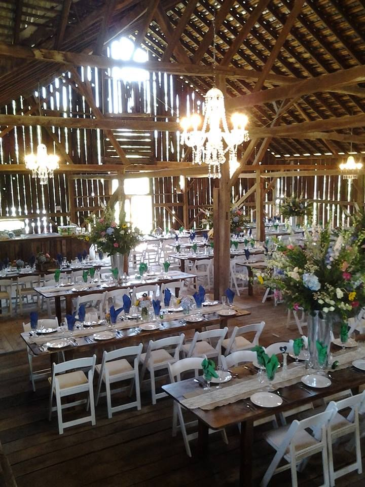 view from stage at barn at Hidden Acres | Rustic wedding ...