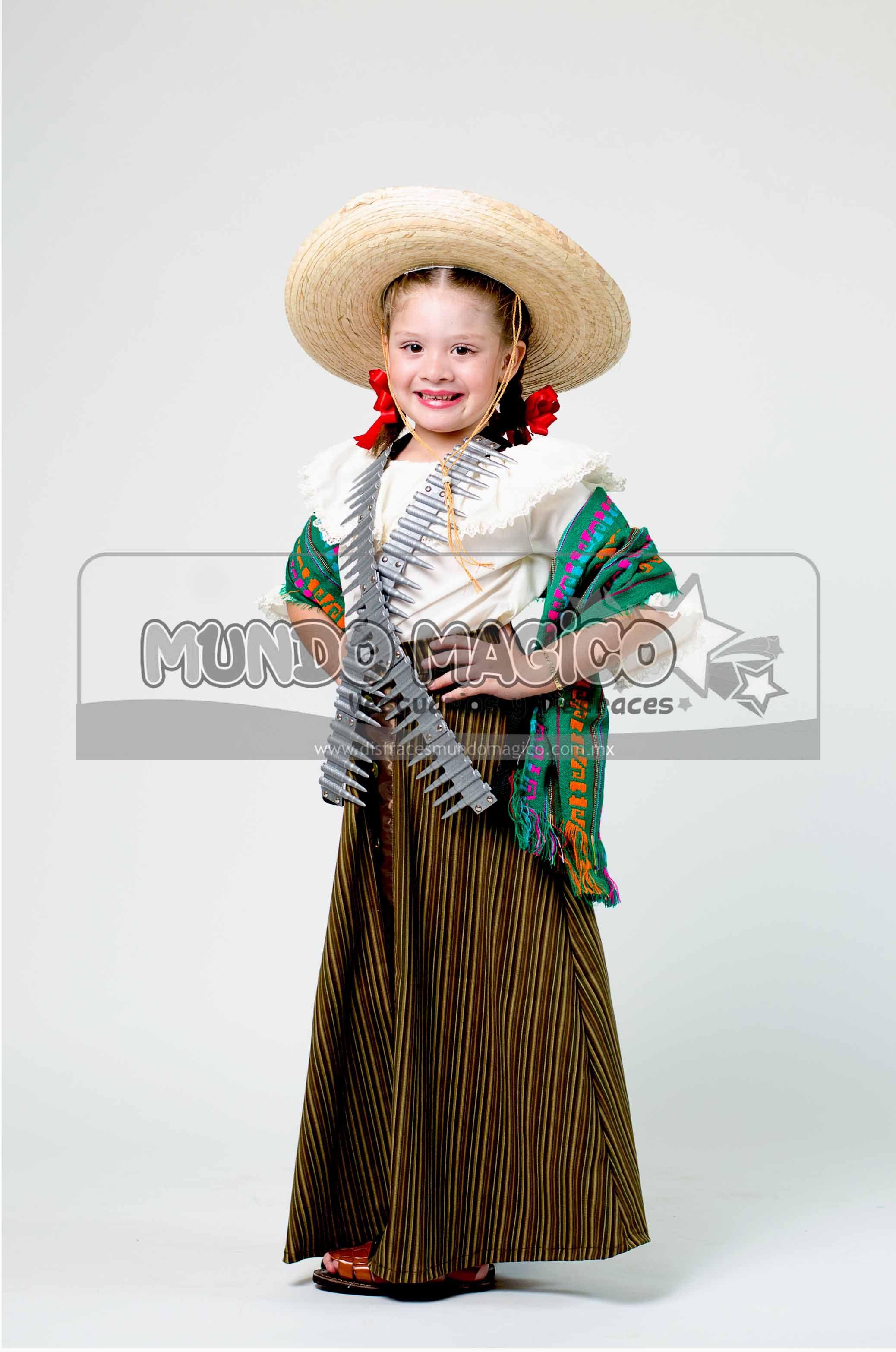 Disfraz De Adelita Para Niña Fiestas Patrias México